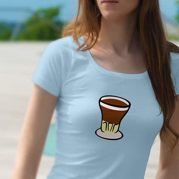 Camiseta con el logo de café asiático