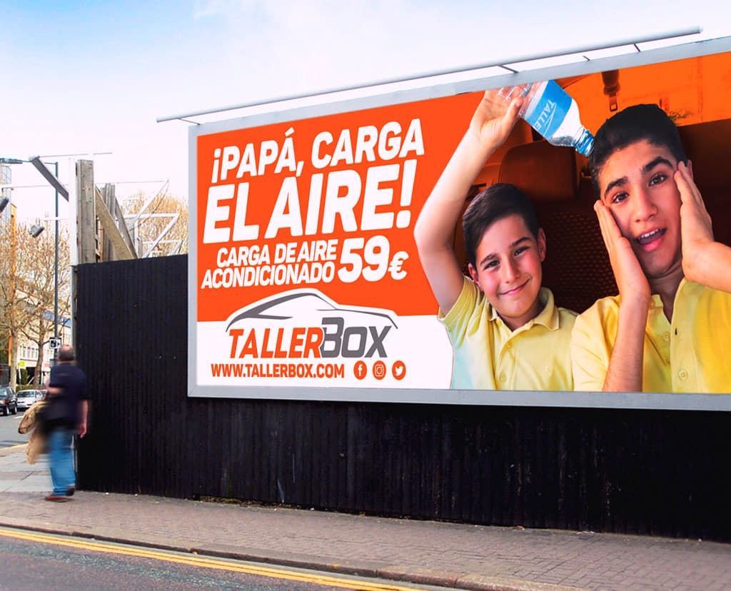 Campaña en Vallas para Taller Box