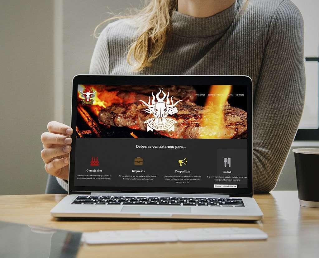 Página web A fuego lento